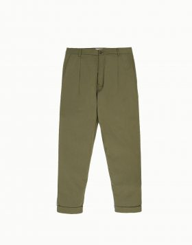 UNIVERSAL WORKS – Pleated Pant In Olive Twill