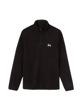 STUSSY – Polar Fleece Half Zip (Black)
