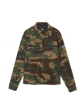 STUSSY – Polar Fleece Full Zip (Camo)