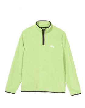 STUSSY – Polar Fleece Half Zip (Lime)