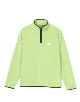 STUSSY – Polar Fleece Half Zip (Lime)