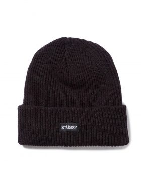 STUSSY – Small Patch Watchcap Beanie (Black)
