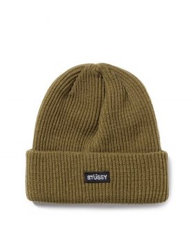 STUSSY – Small Patch Watchcap Beanie (Green)