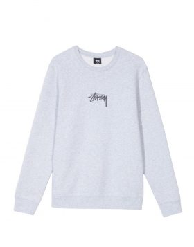 STUSSY – Stock Applique Crew (Grey heather)