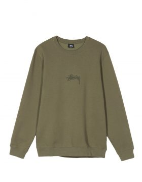 STUSSY – Stock Applique Crew (Olive)