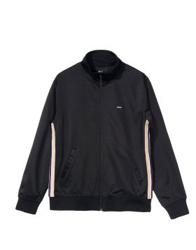 STUSSY – Textured Rib Track Jacket (Black)