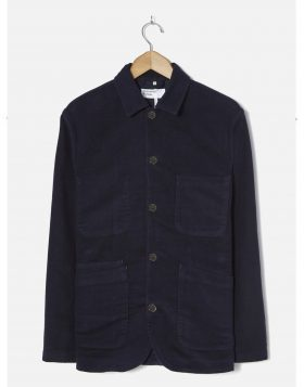 UNIVERSAL WORKS – Bakers Jacket in Navy Moleskin