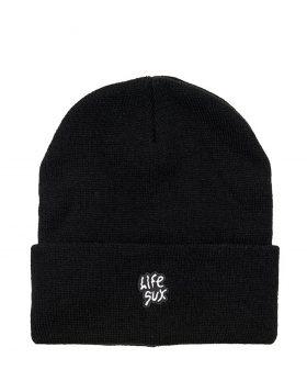 LIFE SUX – LOGO BEANIE (Black)
