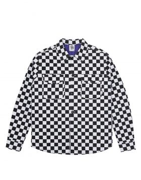 LIFE SUX – SHIRT JACKET CHECK (Black/White)