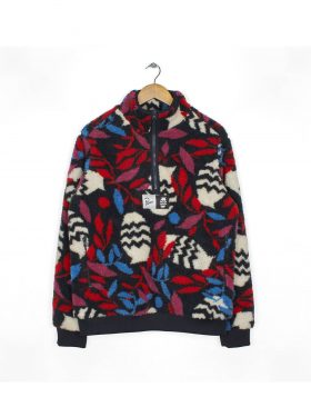 PARRA – Sherpa Fleece Pullover Still Life With Plant (Multi color)
