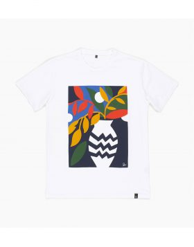 PARRA – T-SHIRT Still Life With Plant (White)
