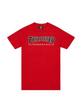 THRASHER – OUTLINED T-shirt (Red)
