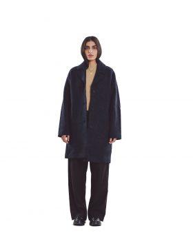 You Must Create – Heroes Wool Coat (Navy)