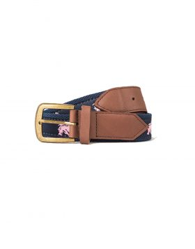 STUSSY – Needle Point Belt (Navy)