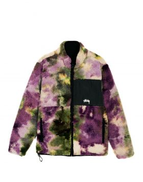 STUSSY – Reversible Micro Fleece Jacket (Tye Dye)