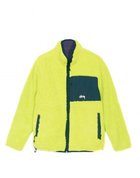 STUSSY – Reversible Micro Fleece Jacket (Lime)