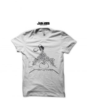 "JUSTEES x FRANCESCA MENCARONI- T-SHIRT ""No Drugs, just true emotions"""