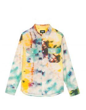 STUSSY – Tie Dye Work L/SL Shirt (Multi)