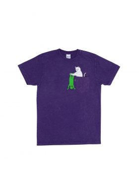 RIPNDIP – Break Yo Self Pocket Tee (Purple Mineral Wash)