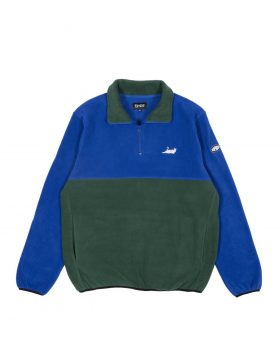RIPNDIP – Castanza 3/4 Zip Up (Navy / Hunter Green)