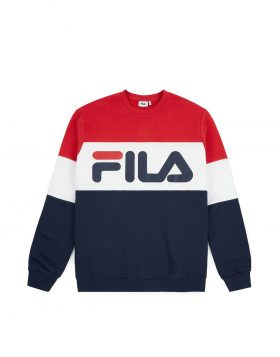 FILA – Straight Blocked Crew (Black iris / True white)