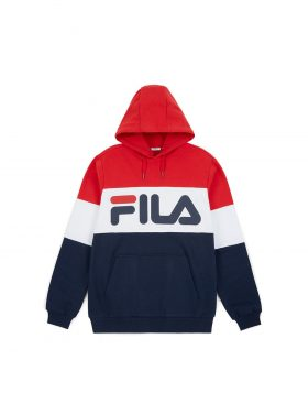 FILA – Night Blocked Hoodie (Black/Iris/True white)