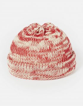 UNIVERSAL WORKS – Short Watch Cap In Red British Slub Wool