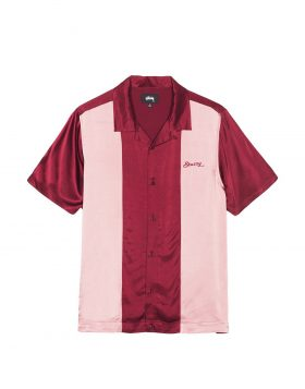 STUSSY – Two Tone Bowling Shirt (Burgundy)