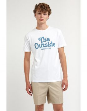 WOOD WOOD – The Outside T-shirt (Bright White)