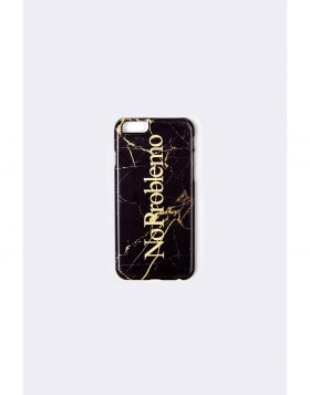 ARIES – NO PROBLEMO iPhone Case (Black Marble)