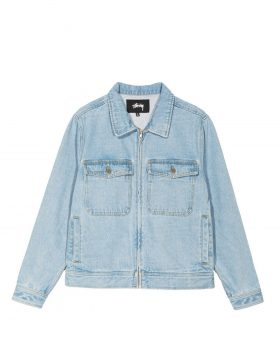 STUSSY – Denim Garage Jacket (Light Blue)