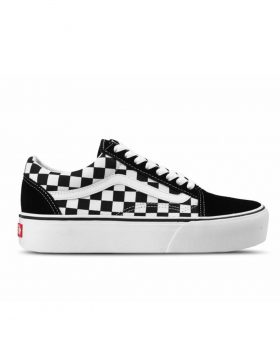 VANS – OLD SKOOL PLATFORM (Checkerboard) – Black / True White