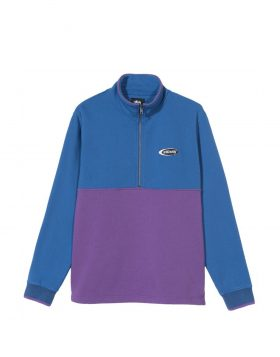 STUSSY – Two Tone Mock Neck (Blue)