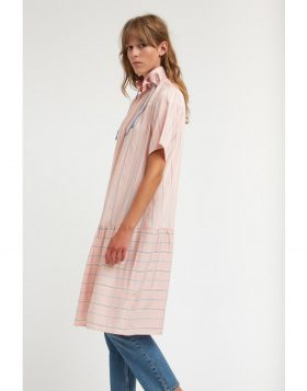 WOOD WOOD – Delphine Dress (Light Rose Stripe)