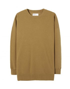 UNIVERSAL WORKS – Oversized Sweatshirt in Khaki Loopback