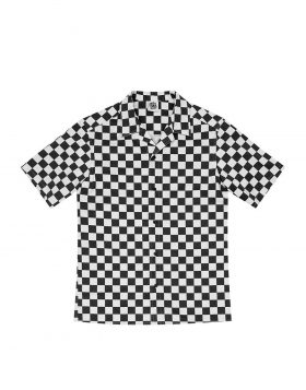 LIFE SUX – Bowling Shirt (Checkerboard/Black)