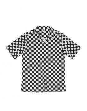 LIFE SUX – Bowling Shirt (Checkerboard/Black)