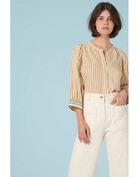 SESSUN – SONG FOR YOU Blouse (Honey Gold Stripe)