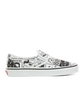 VANS – Classic Slip-On (Ashley Williams) Newspaper/TrueWhite