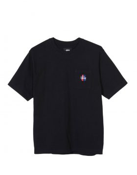 STUSSY – 2 Bar Stock Crew (Black)