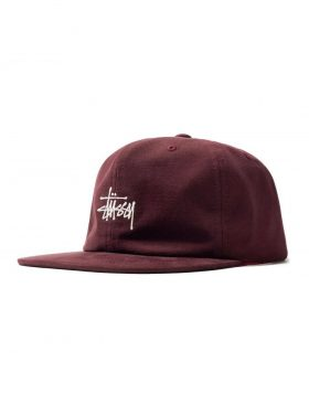 STUSSY – Washed Oxford Strapback (Burgundy)
