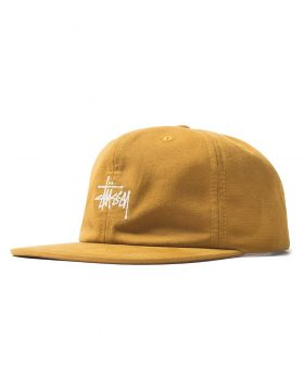 STUSSY – Washed Oxford Strapback Cap (Mustard)