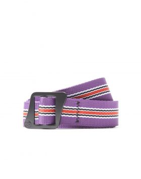 STUSSY – Striped Climbing Web Belt (Berry)