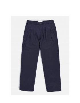 UNIVERSAL WORKS – Double Pleat Pant in Navy Twill