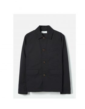 UNIVERSAL WORKS – Warmus Jacket in Black Twill