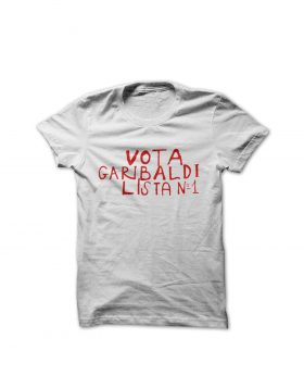 "JUSTEES – ""VOTA GARIBALDI"" T-SHIRT"