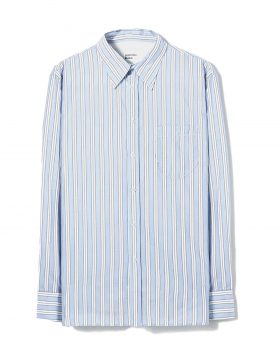 UNIVERSAL WORKS – Brook Shirt in Blue/White Beano Stripe