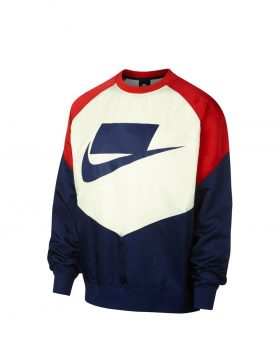 NIKE – Sportswear NSW Crew (Blue Void/University Red/Sail/Blue Void)
