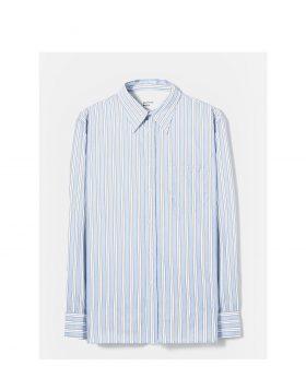 UNIVERSAL WORKS – Brook Shirt in Blue/White Beano Stripe