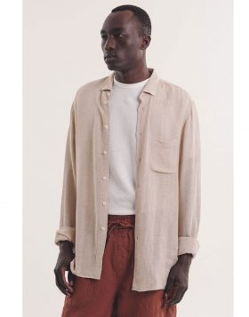 You Must Create – Dean Shirt Linen (Khaki)